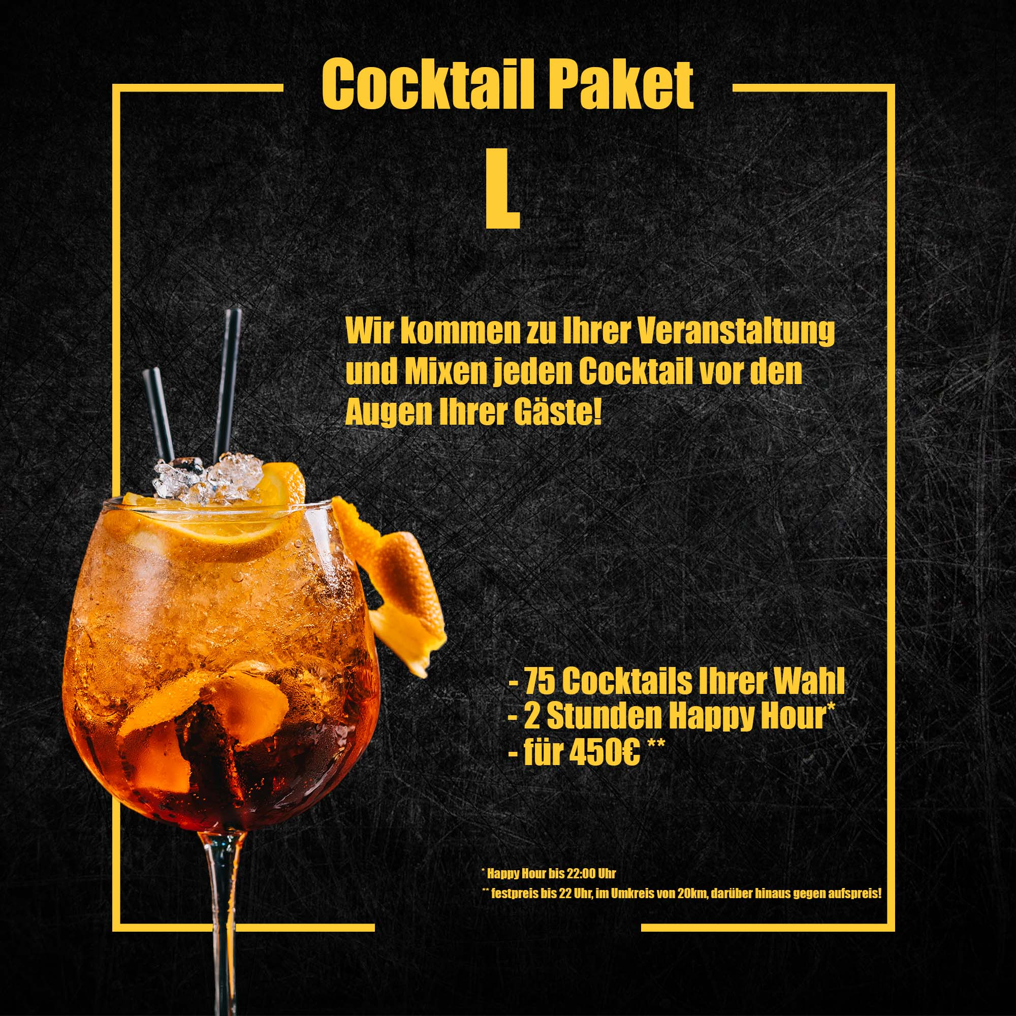 Cocktail Paket L
